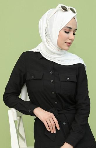 فستان أسود 8301-04