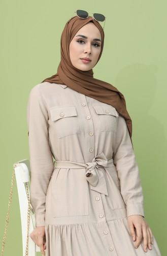 فستان رمادي فاتح 8301-08