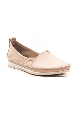 حذاء مسطح بيج 04