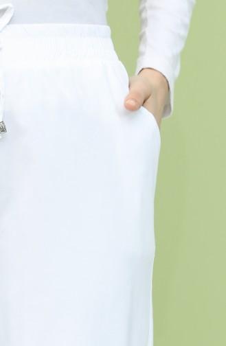 Pantalon Blanc 0156-07