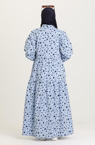 فستان أزرق ثلجي 1443-04
