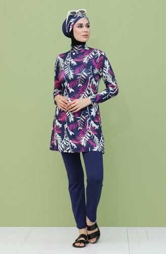 Navy Blue Swimsuit Hijab 2046