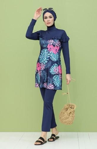 Navy Blue Swimsuit Hijab 2054