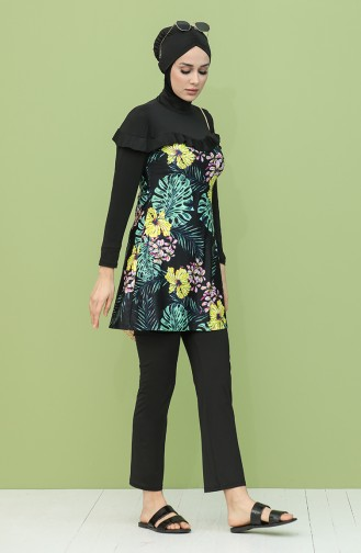 Black Swimsuit Hijab 2054