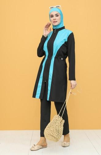Turquoise Swimsuit Hijab 1971-02