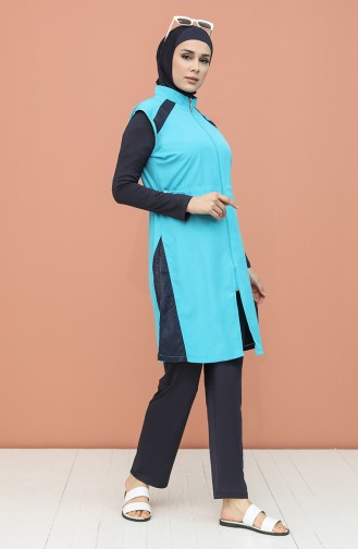 Turquoise Swimsuit Hijab 1981-01