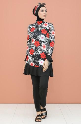 Black Swimsuit Hijab 2051