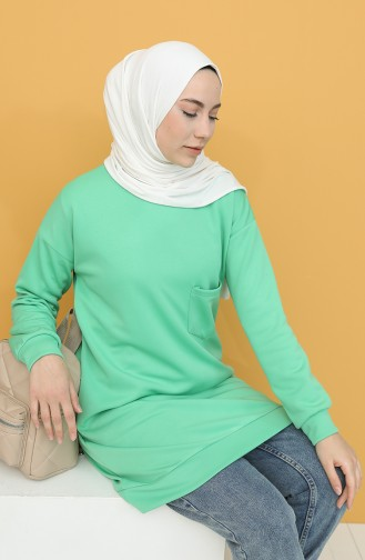 Nefti Grüne Farbe Pulli 1571-09