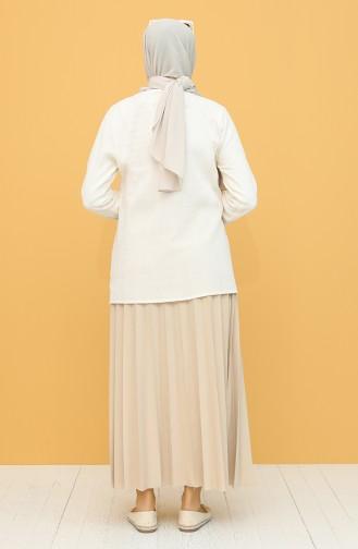Cream Blouse 0011-07