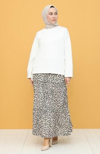 Beige Skirt 8270-01