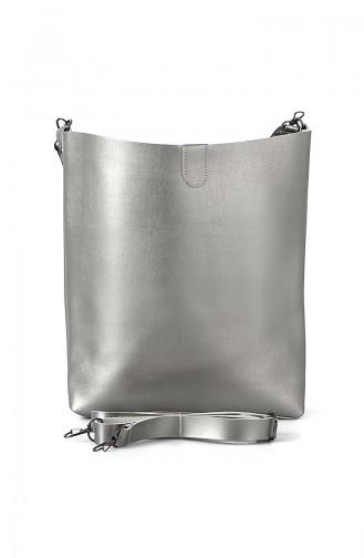 Bayan Omuz Çantası BS7002GU Gümüş 7002GU