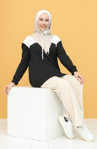 Sweatshirt Noir 5076-02
