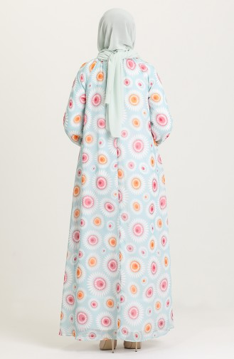Robe Hijab Vert 7284-01