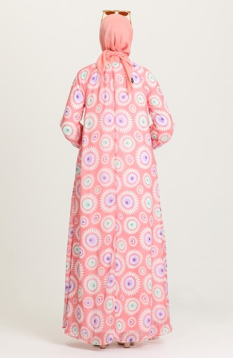 Coral Hijab Dress 7284-02