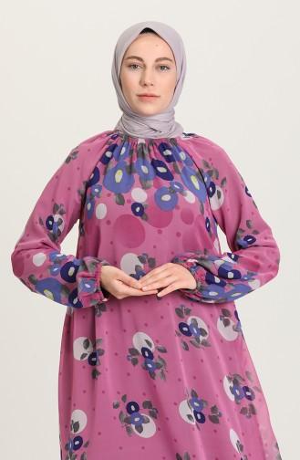 Fuchsia İslamitische Jurk 7290-01