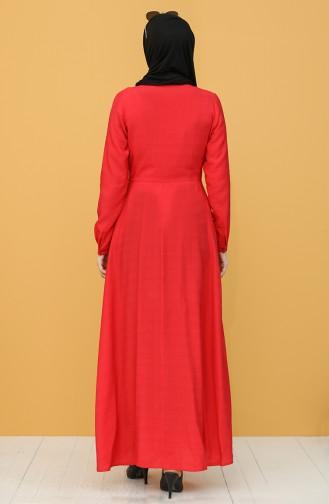 Coral Hijab Dress 8300-05