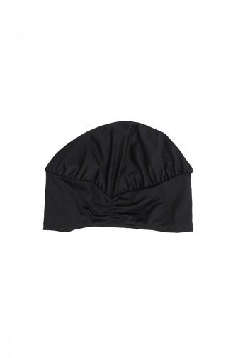 Schwarz Hijab Badeanzug 2062