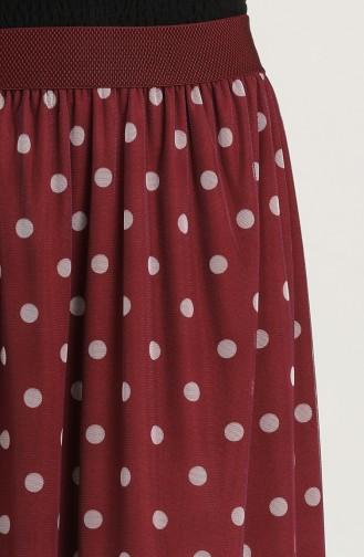 Claret Red Skirt 5031-01