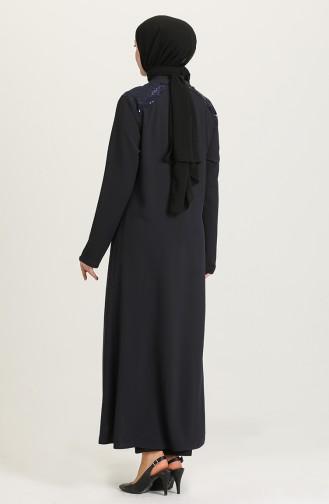 Krepp Abaya mit Reissverschluss 1053-01 Schwarz 1053-02