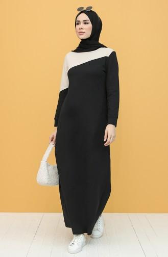 Garnili Spor Elbise 50101-01 Siyah