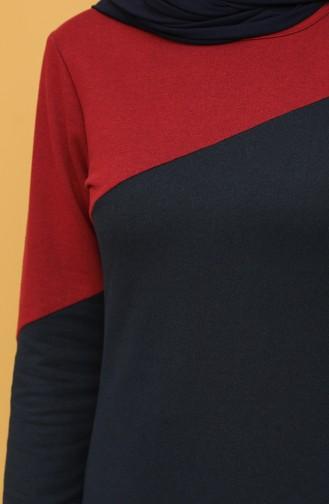 فستان أزرق كحلي 50101-02