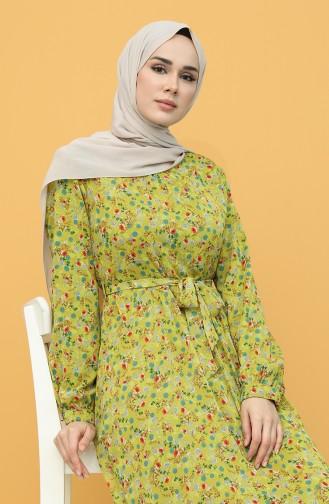 Pistachio Green Hijab Dress 20Y3064001D-02