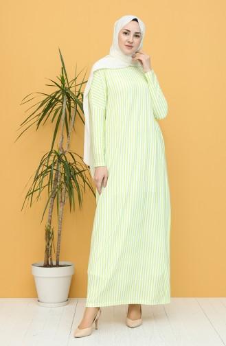 Robe Hijab Vert Nefti 8265-01