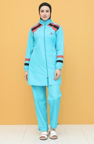 Turquoise Modest Swimwear 2025-05
