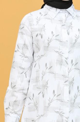Desenli Tunik 6508-05 Gri