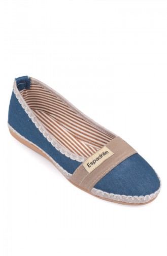 Jeansblau Damen Ballerinas 8823-3