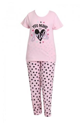 Bayan Pijama Takımı 3339 Pembe 3339