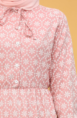فستان زهري باهت 5360-04