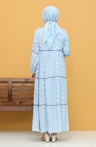 Desenli Elbise 21Y82761-05 Bebe Mavisi