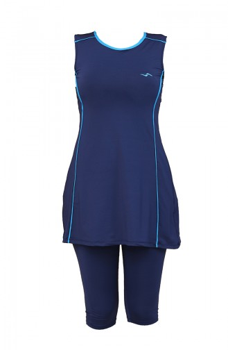Navy Blue Swimsuit Hijab 1865-01