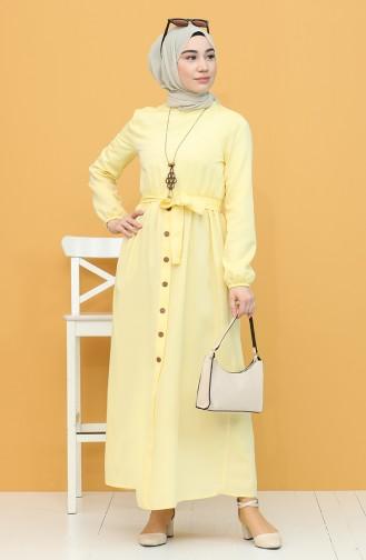 Robe Hijab Jaune 7067-17