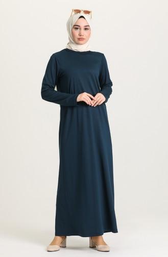 فستان أزرق زيتي 0076-05