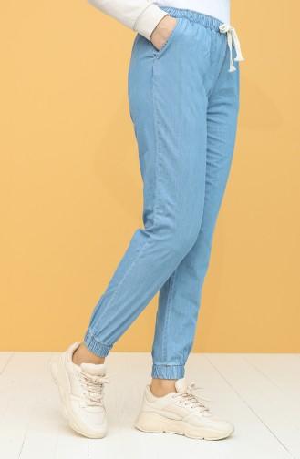 Pantalon Bleu Jean 0015-02