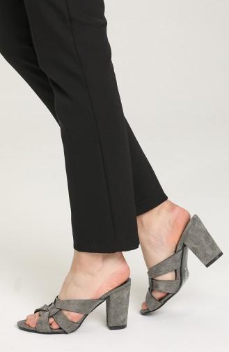 Gray Summer slippers 1362-11