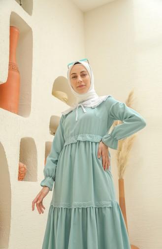 Green İslamitische Jurk 4352-02