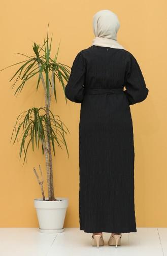 Black Hijab Dress 5361-03