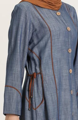 Denim Blue Abaya 0870-02