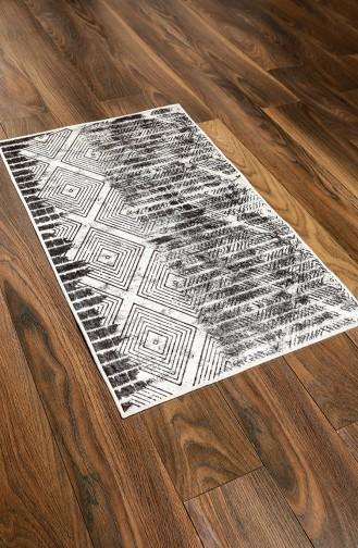 Desenli Banyo Paspas Takım 6000-01 Siyah