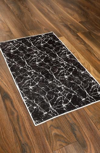 Desenli Banyo Paspas Takım 6004-01 Siyah