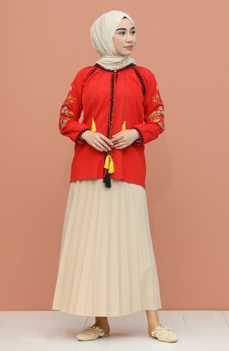 Red Blouse 21204-04