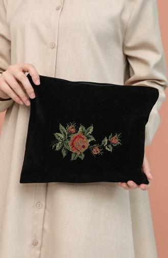 Schwarz Portfolio Handtasche 1003-05