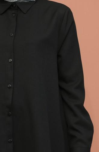 Düğme Detaylı Tunik Pantolon İkili Takım 1417-01 Siyah