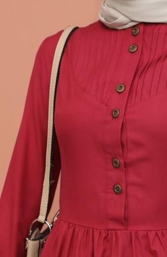 Dunkel-Fuchsia Hijap Kleider 7281-17
