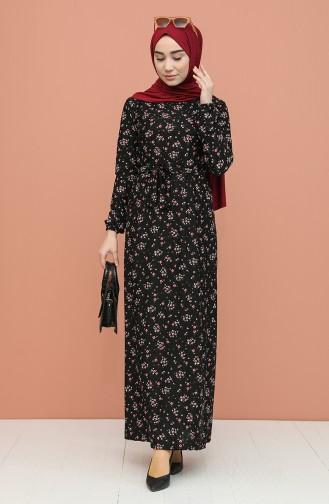 Schwarz Hijap Kleider 0398-01