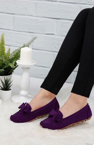 Purple Women`s Flats 0104-03