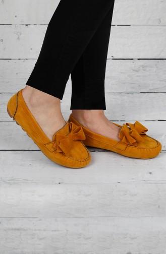 Velvet Flat Shoe 0104-11 Yellow 0104-11